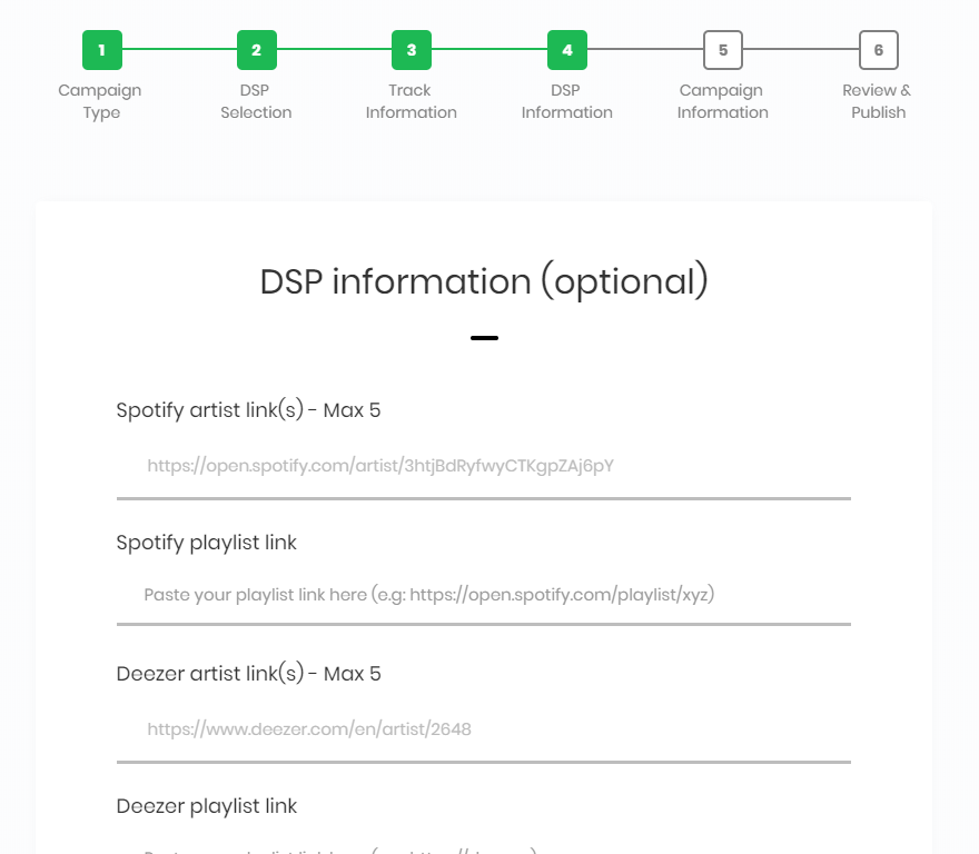 How to create a Presave campaign with all DSPs   Presave Blog
